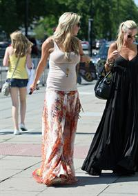 Alex Curran walking in Liverpool on July 14, 2011