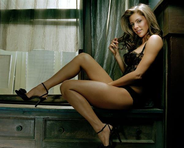 Jill Wagner in lingerie
