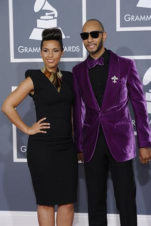 Alicia Keys attends the 54th annual Grammy Awards on February 12, 2012