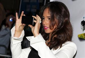 Alicia Keys attends the Stick Fly Broadway opening night 08.12.11