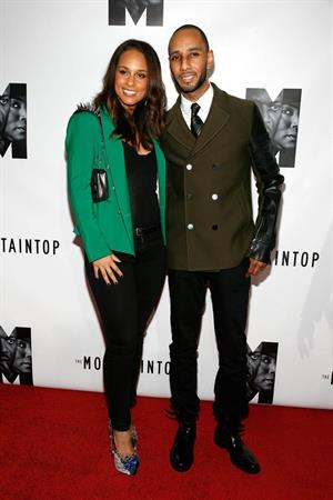 Alicia Keys at the opening night of the Moutaintop in New York on October 13, 2011