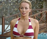 Gemma Garrett in a bikini