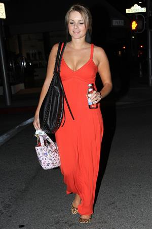 Ali Fedotowsky leaves sushi roku in west hollywood 04 11 10