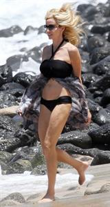 Camille Grammer in a bikini