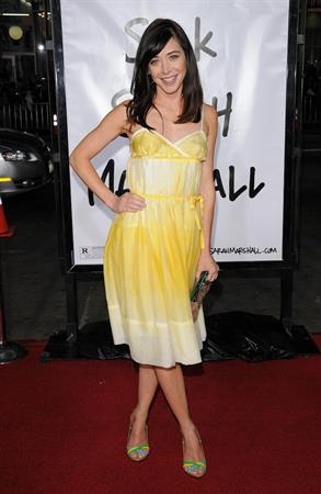 Alyson Hannigan attending the premiere of Forgetting Sarah Marshall