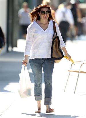 Alyson Hannigan in Santa Monica, CA - September 7, 2012