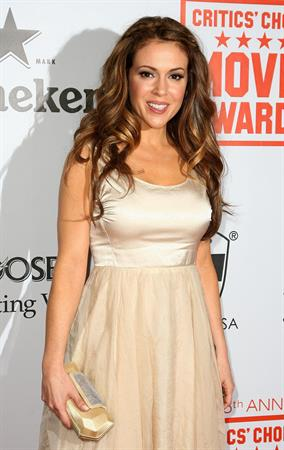 Alyssa Milano 15th annual critics choice movie awards held at the Hollywood Palladium on January 15, 2010