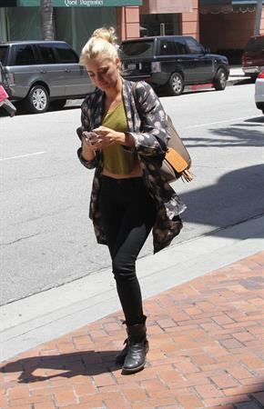 Amanda Michalka out about in Beverly Hills on May 9, 2012