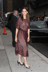 Amanda Peet arriving for David Letterman appearance on March 13, 2012