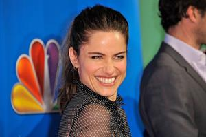 Amanda Peet 2011 NBC upfront at the Hilton hotel in New York City on May 16, 2011
