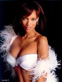 Tyra Banks in lingerie