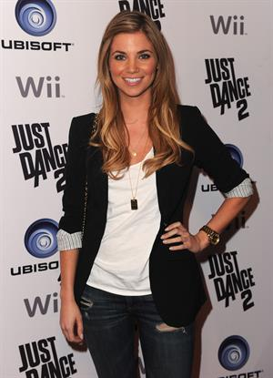 Amber Lancaster celebration of the launch of Ubisoft's Just Sance 2 at Las Palmas on October 19, 2010