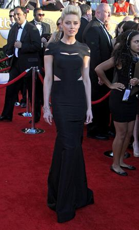 Amber Heard 18th annual Screen Actors Guild Awards on January 29, 2012