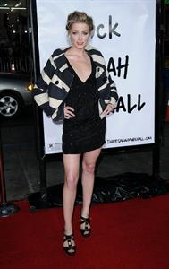 Amber Heard attending the Forgetting Sarah Marshall premiere in Hollywood