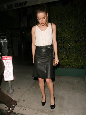 Amber Heard leaves Mr Chow restaurant in Beverly Hills October 2, 2012