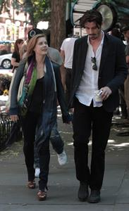 Amy Adams set of her new film Lullaby in New York on June 16, 2012