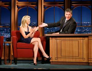 Amy Smart on the the Late Late Show with Craig Ferguson at CBS Television City in Los Angeles 11-08-2008