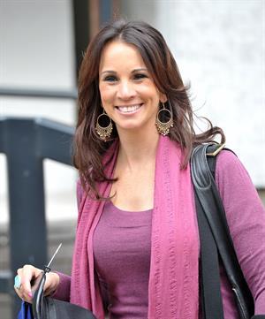 Andrea McLean outside London Studios on April 4, 2012
