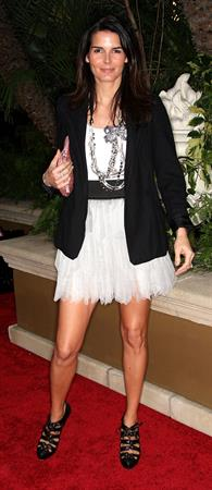 Angie Harmon QVC Red Carpet Style event at the Four Seasons Hotel on March 5, 2010