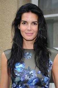 Angie Harmon Giambattista Valli fashion show at Paris Fashion Week on Sept 30, 2013