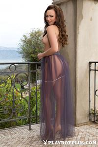 Playboy Cybergirl Rebecca Bailey Nude outside on the patio
