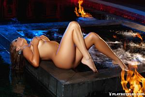 Playboy Cybergirl Brittney Shumaker Nude in the hot tub