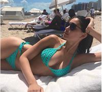 Anne de Paula in a bikini