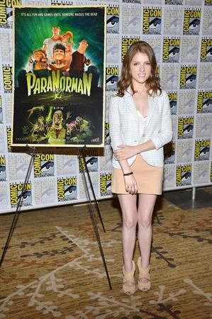 Anna Kendrick -  Paranorman  press room at Comic-Con 2012 in San Diego (July 13, 2012)