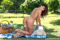 Playboy Cybergirl Sophie Anne Nude Picnic