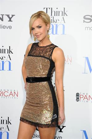 Arielle Kebbel attends the Think Like a Man premiere in Los Angeles on Feb 9, 2012