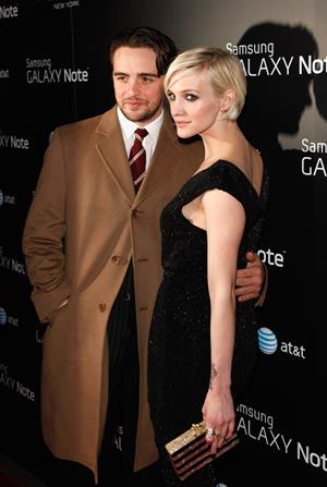 Ashlee Simpson Samsung and AT&T fashion take note studio on February 14, 2012