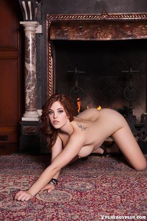Molly Stewart posing nude for Playboy