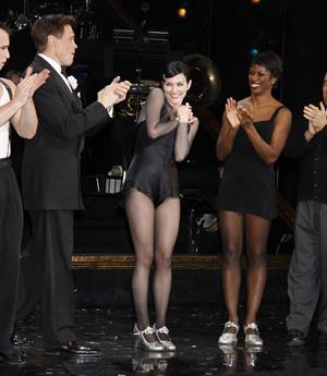 Ashlee Simpson makes her Broadway debut in the musical Chicago in New York City