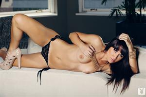 Kimberly Kisselovich naked on the couch for Playboy Plus
