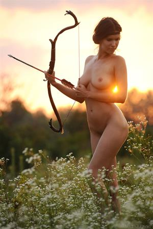 Nude Archery with Suzanna A
