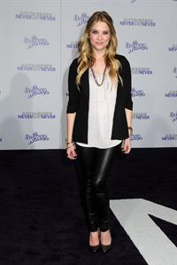 Ashley Benson Justin Bieber Never Say Never Los Angeles premiere on February 8, 2011