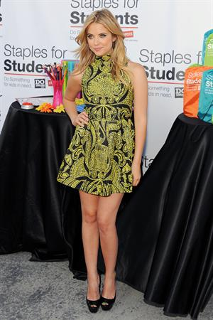 Ashley Benson attends the DoSomething.org Staples Teen Choice Awards after party on August 7, 2011