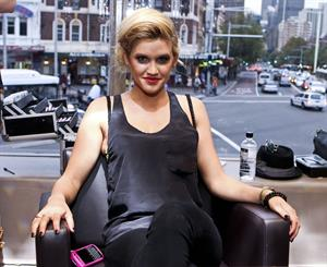 Ashley Roberts 2010 at Australian hair fashion awards pre event makeup March 29, 2010