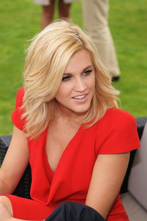 Ashley Roberts at Cartier tent during the Cartier Internaional Polo Day at Guards Polo Club in Egham England