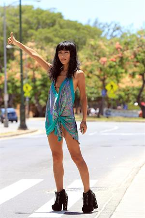 Bai Ling - Hawaiian bikini shoot August 23, 2012