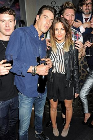 Caroline Flack attends the launch of OMEGA House on July 28, 2012 in London, England