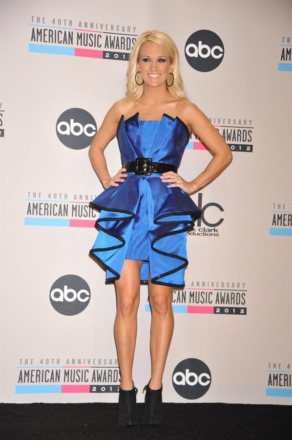 Carrie Underwood American Music Awards - Press Room (November 18, 2012)