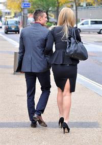 Catherine Tyldesley in London - October 26, 2012