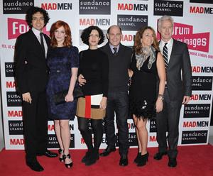 Christina Hendricks Mad Men photocall at Forum des Images in Paris on February 9
