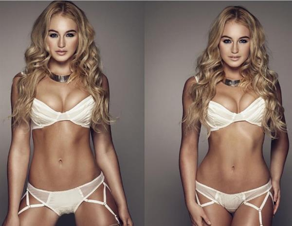 Iskra Lawrence retouched