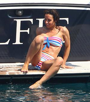 Christine Bleakley bikini boat candids July 2010