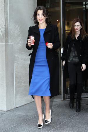 "Cobie Smulders ""Breakfast Television"" studios in Toronto, November 8, 2013"