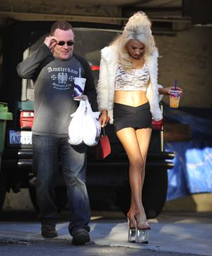Courtney Stodden and husband arrive home in Hollywood Hills January 2, 2013