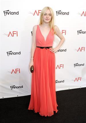 Dakota Fanning - AFI Life Achievement Award Honoring Shirley MacLaine in LA June 7, 2012