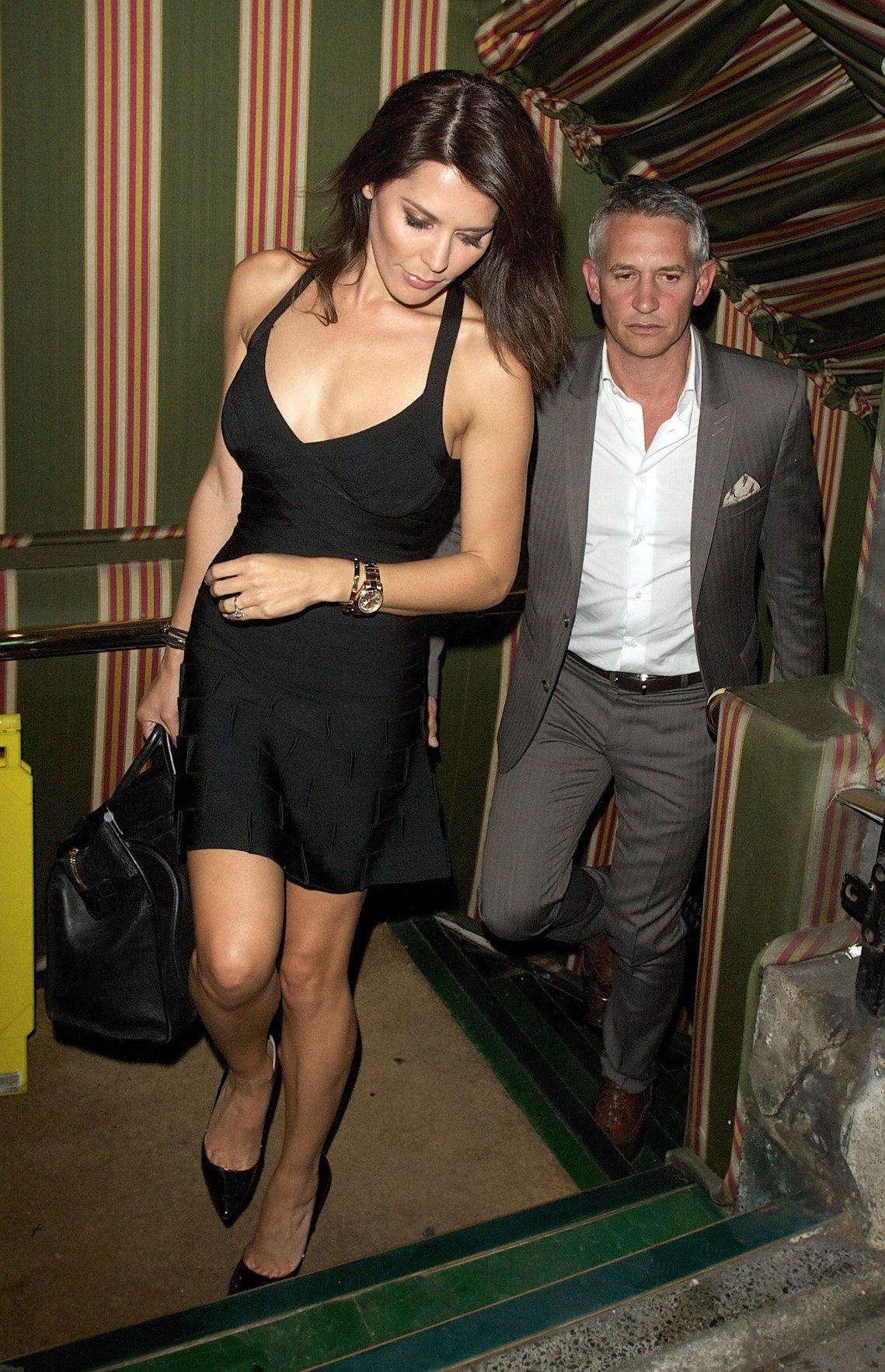 Danielle Lineker leaving Annabel's private members club October 2, 2012